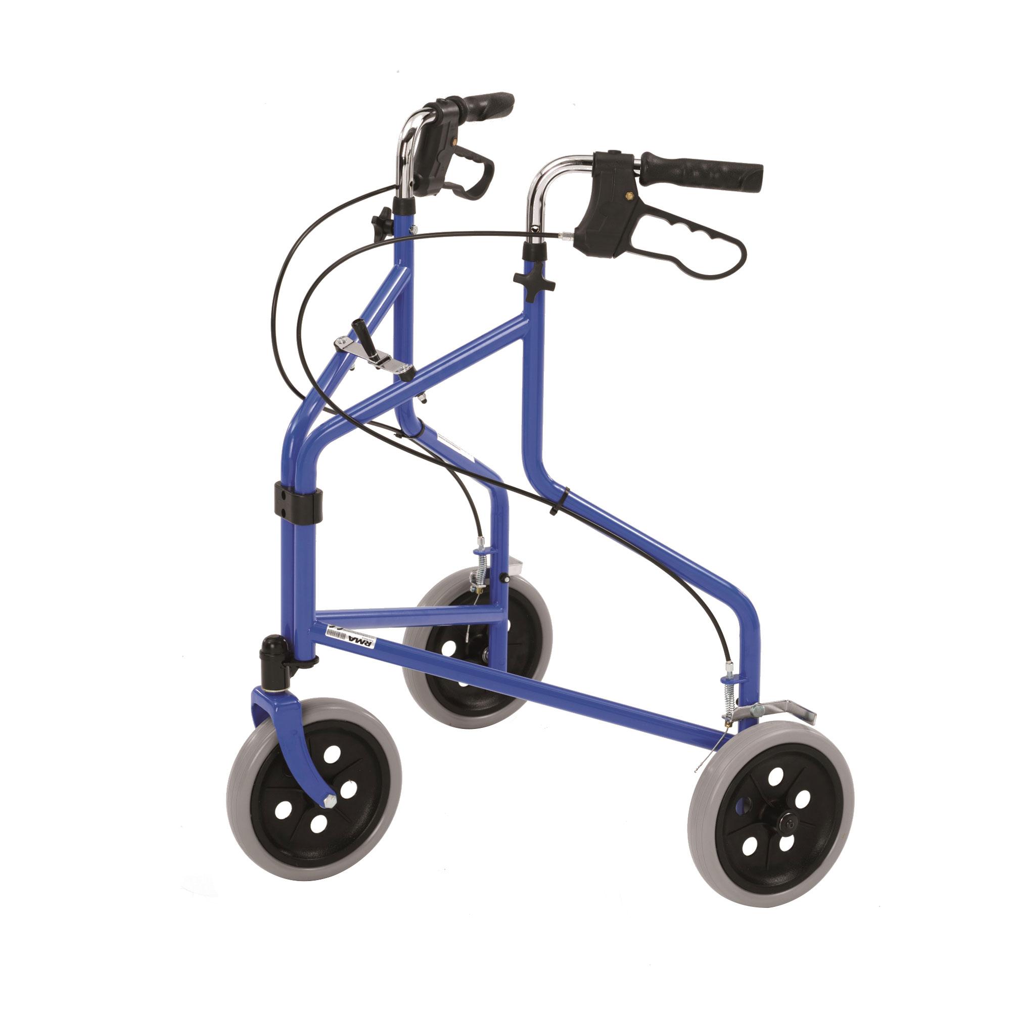 2320 Tri Wheel Walker With Loop Brakes Roma Medical