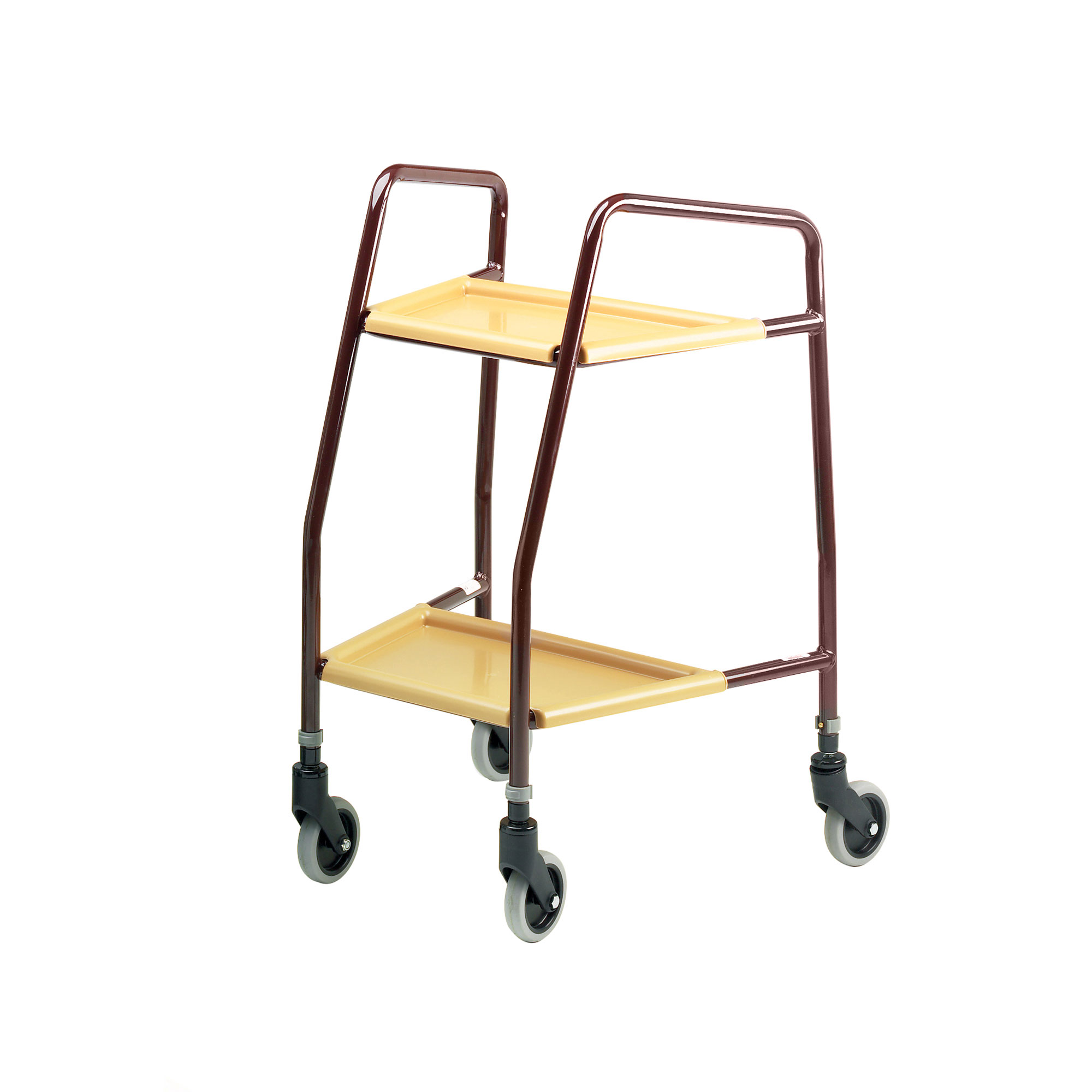 5640 Adjustable Height Trolley With Plastic Trays Roma