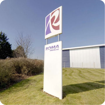 Roma Facility Welcome Sign