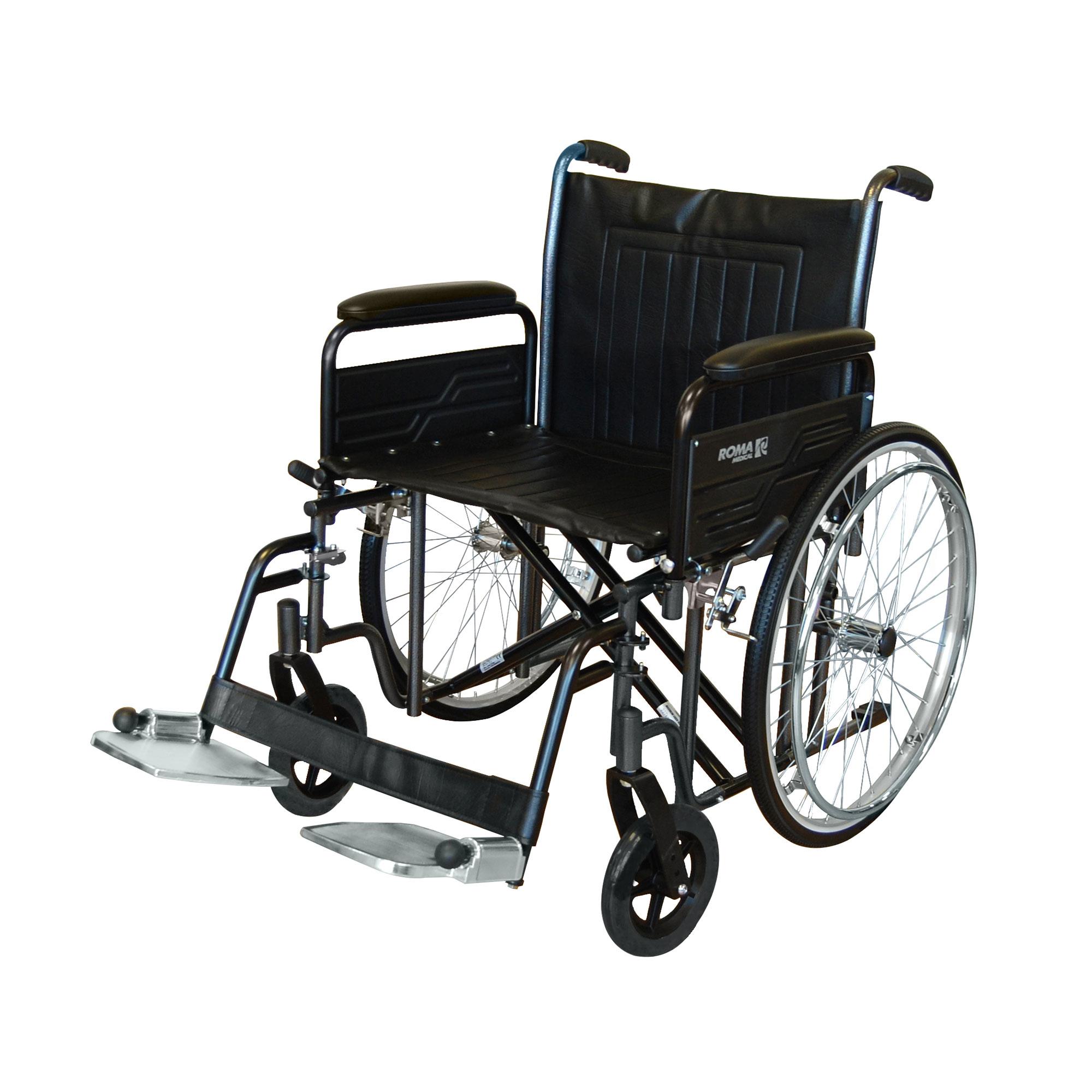 1473 Heavy Duty Self Propelled Wheelchair Roma Medical