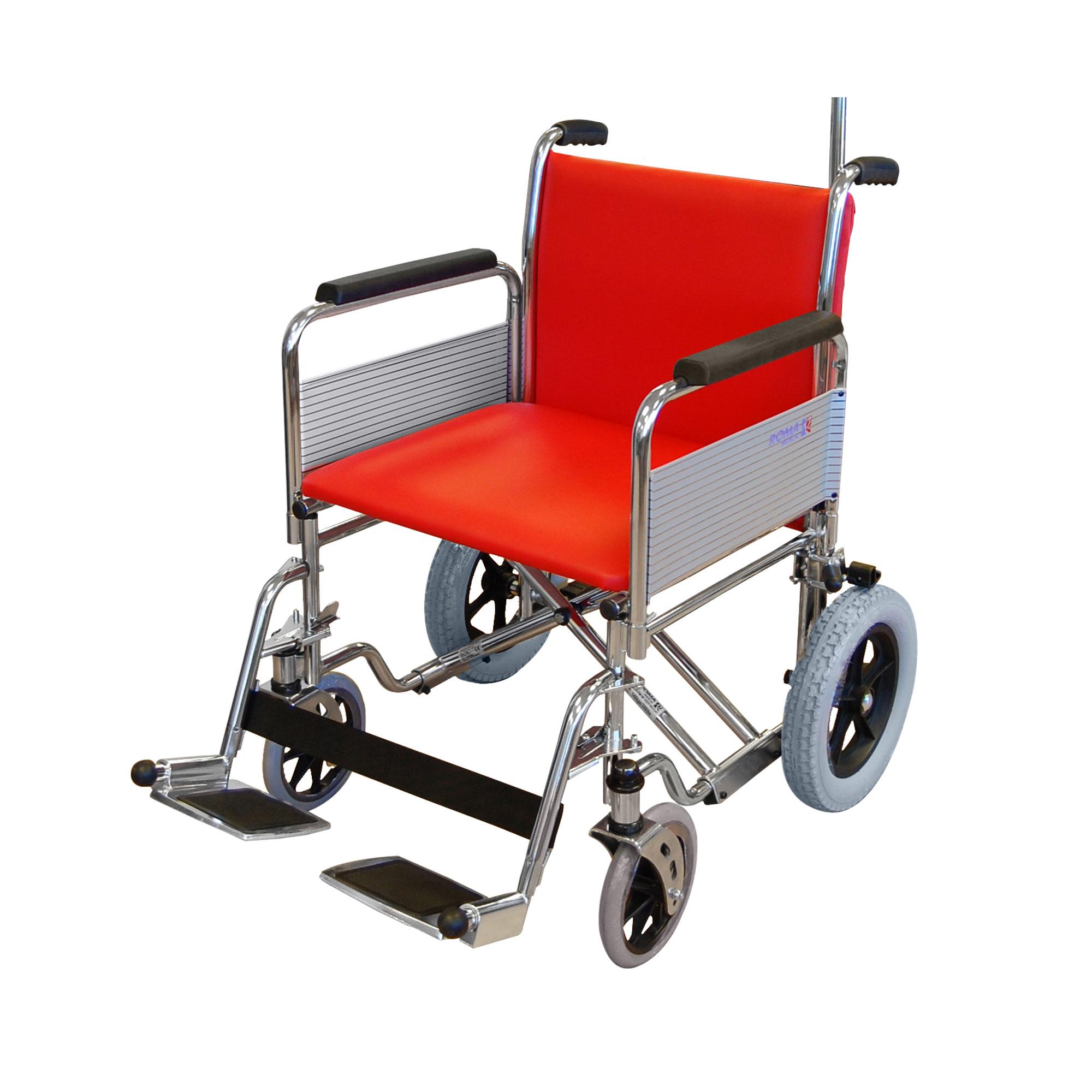 1485 Pc Heavy Duty Porter Wheelchair Roma Medical
