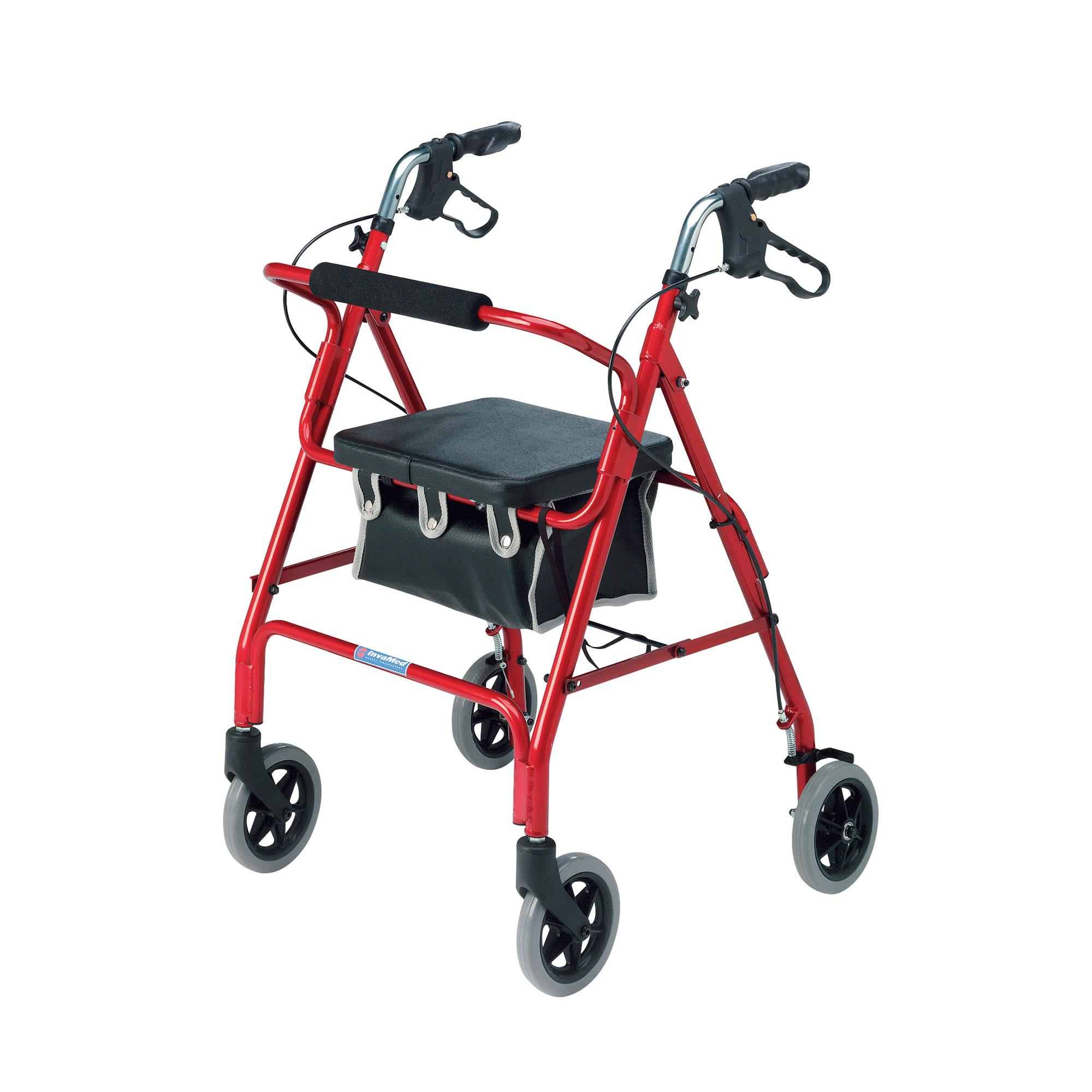 2462 Lightweight 4 Wheel Rollator Roma Medical