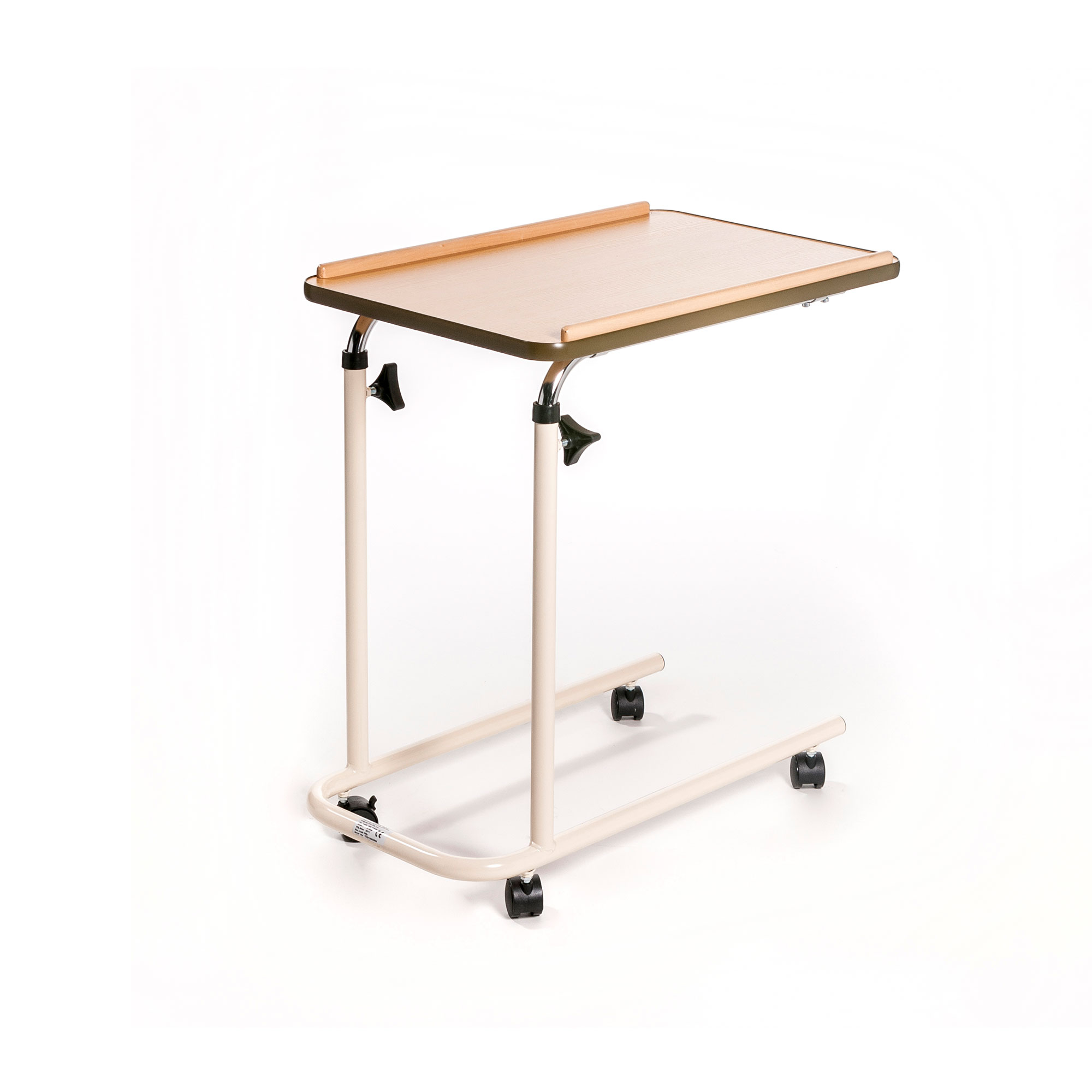 5705b Over Bed Table With Open Base And Castors Roma