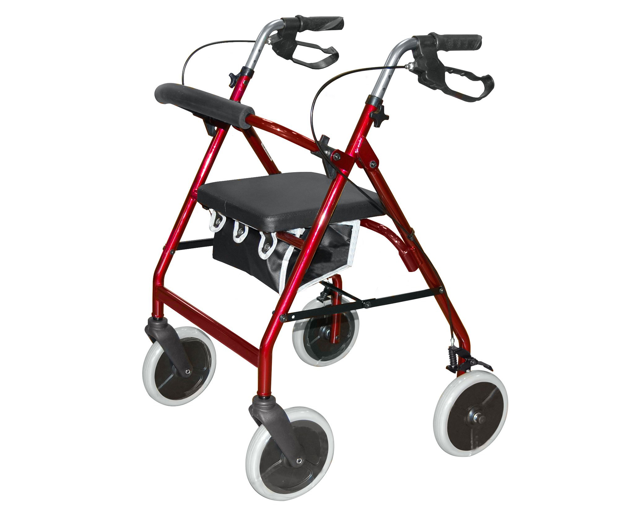 Roma lightweight 4 wheel walker rollator